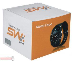 جعبه ساعت هوشمند اس دبلیو مدل Metal Face