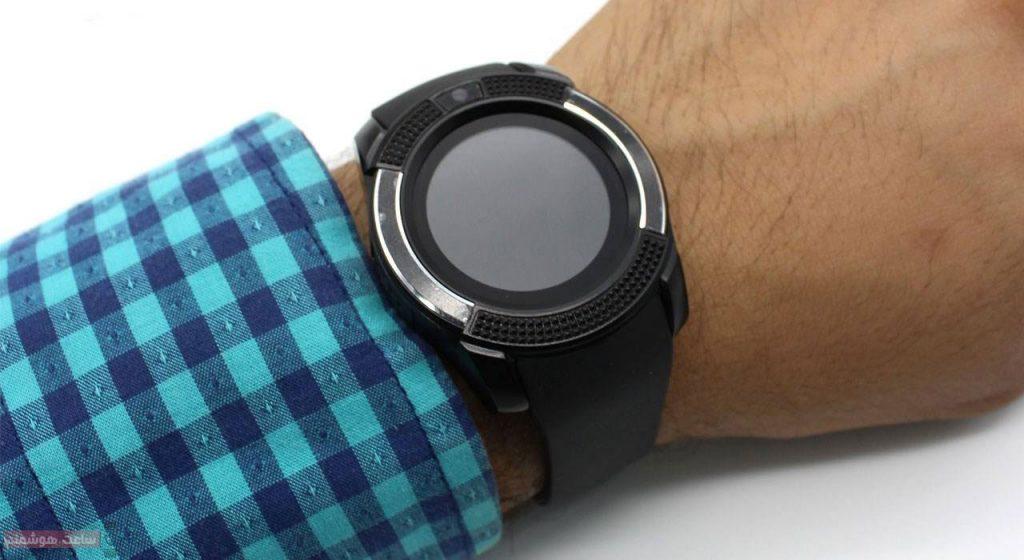 ساعت هوشمند اس دبلیو مدل Metal Face روی مچ دست