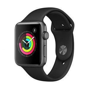 ساعت هوشمند اپل واچ 3 مدل 38 میلی متر – Apple Watch 3 38mm Space Gray Aluminum Case with Black Sport Band