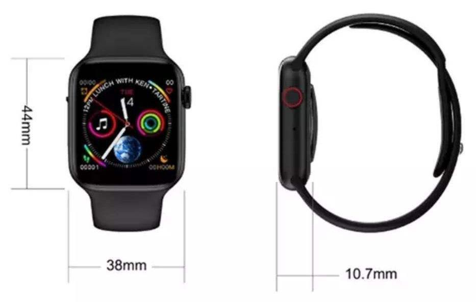 ابعاد ساعت هوشمند مدل W34