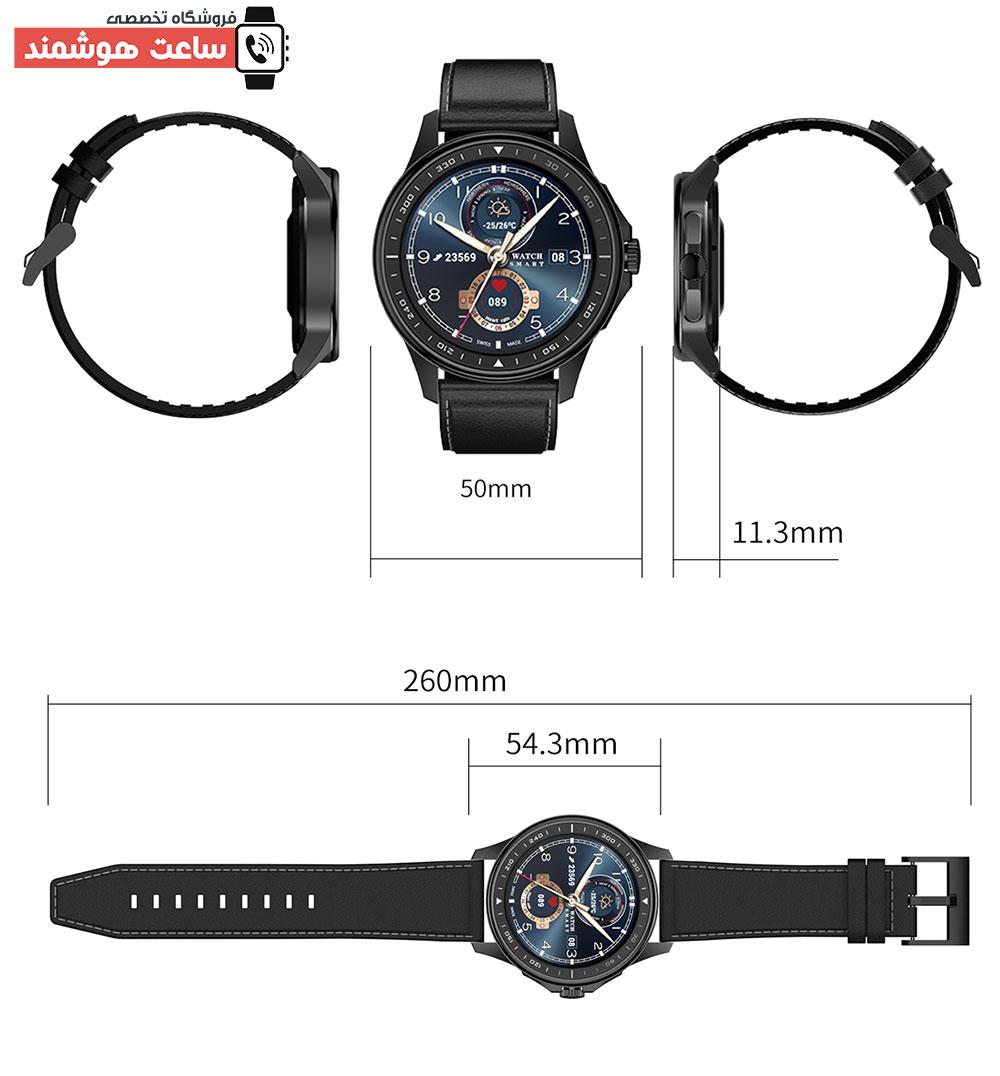 اندازه ساعت هوشمند SK3
