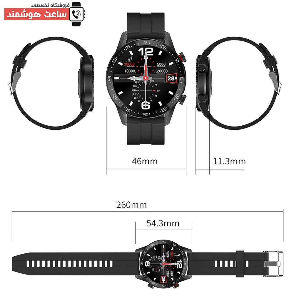 ابعاد ساعت هوشمند SK7