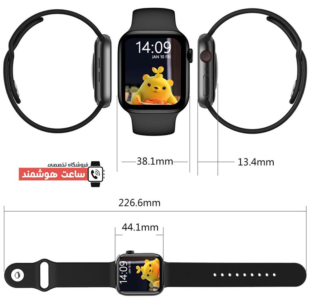 ابعاد ساعت هوشمند مدل HW22 Pro