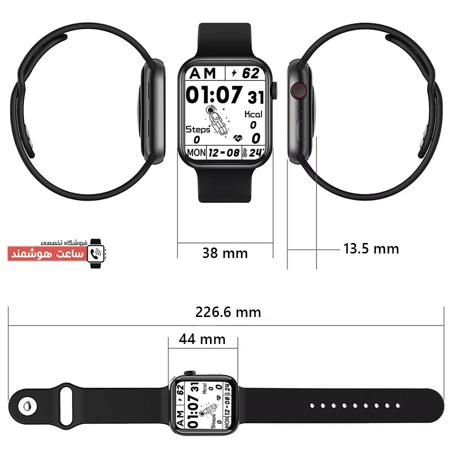 ابعاد ساعت هوشمند FK100