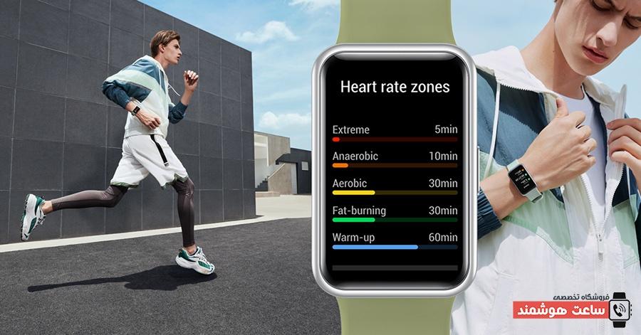 قابلیتهای ردیابی سلامتی Smart Watch Huawei مدل Watch Fit