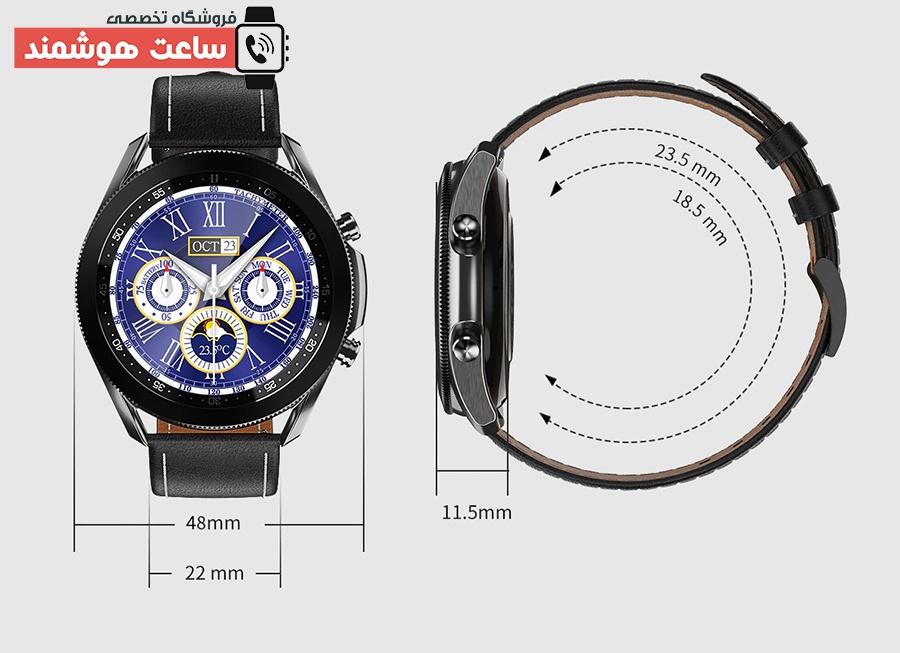 ابعاد ساعت هوشمند W3
