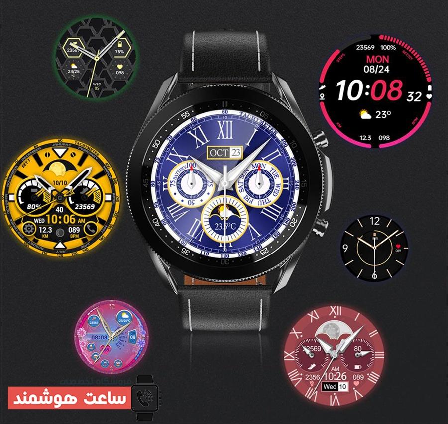 واچ فیس های پیش فرض ساعت هوشمند مدل W3